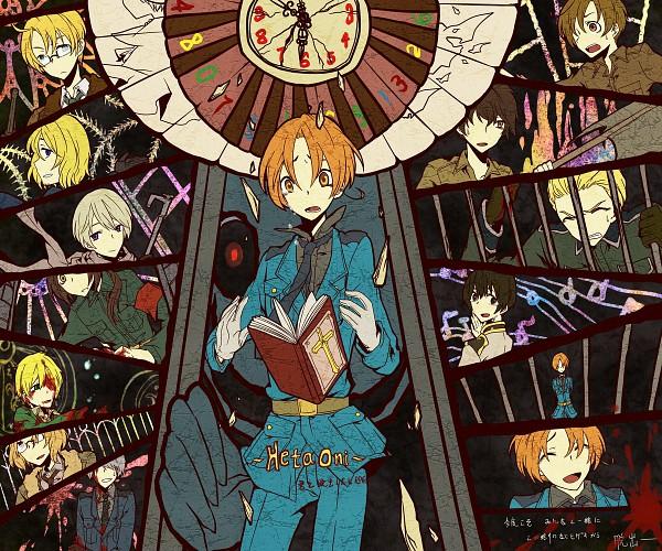 Tags: Anime, Pixiv Id 1155054, Axis Powers: Hetalia, Hetaoni, France, Canada, North Italy, Japan, Spain, Russia, United Kingdom, Prussia, United States