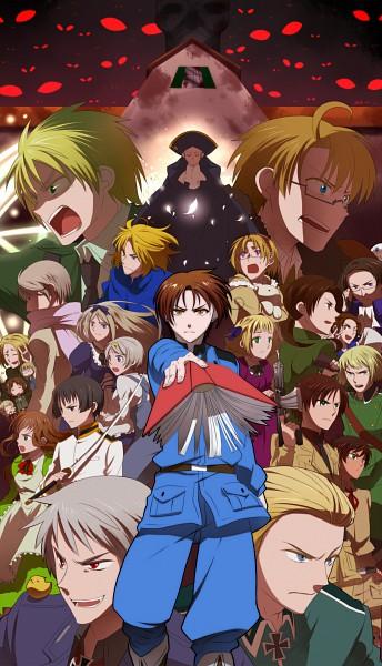 Tags: Anime, Miyama Yomema, Axis Powers: Hetalia, Hetaoni, Ukraine, Canada, Hungary, Germany, South Korea, Japan, Russia, Spain, France