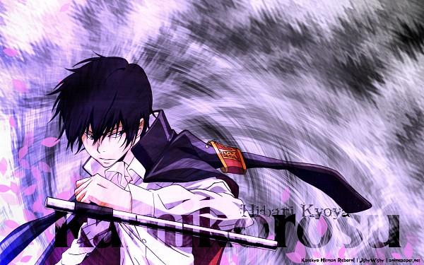Tags: Anime, Katekyo Hitman REBORN!, Hibari Kyoya, Tonfa, Wallpaper