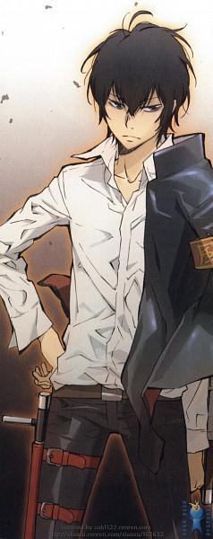 Tags: Anime, Tanaka Masayoshi, Katekyo Hitman REBORN!, Hibari Kyoya, Tonfa, Scan, Official Art