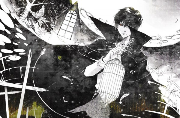 Tags: Anime, Gray Crow, Monster Tamer Tsuna, Katekyo Hitman REBORN!, Hibari Kyoya, Hibarin, Grave, Fanart, Fanart From Pixiv, Pixiv, Yami Iro Alice