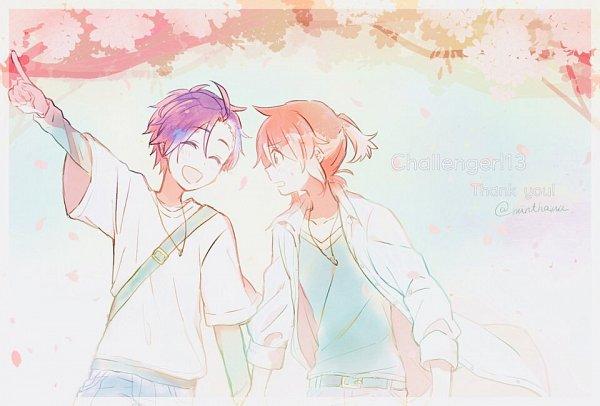 Tags: Anime, Minto, Pokémon Gold & Silver, Pokémon, Silver (Pokémon), Hibiki (Pokémon), Fanart, Twitter, HibiSil