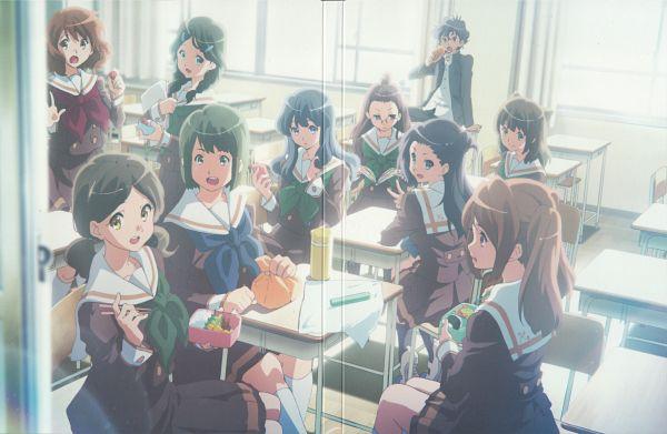 Tags: Anime, Ikeda Shouko, Kyoto Animation, Hibike! Euphonium, Saitou Aoi, Ogasawara Haruka, Oumae Kumiko, DVD (Source), Official Art, Character Request, Scan, Sound! Euphonium