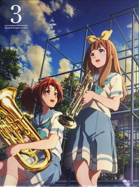 Tags: Anime, Ikeda Shouko, Kyoto Animation, Hibike! Euphonium, Yoshikawa Yuuko, Nakagawa Natsuki, DVD (Source), Mobile Wallpaper, Official Art, Scan, Sound! Euphonium