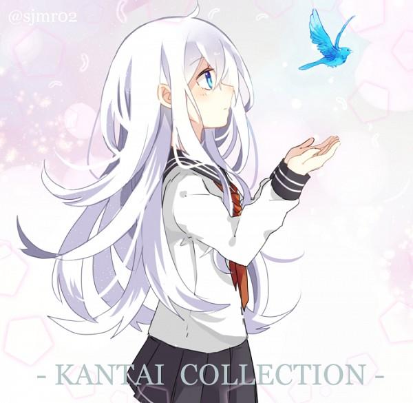 Tags: Anime, Shijima (sjmr02), Kantai Collection, Hibiki (Kantai Collection), Fanart, Fanart From Pixiv, PNG Conversion, Pixiv