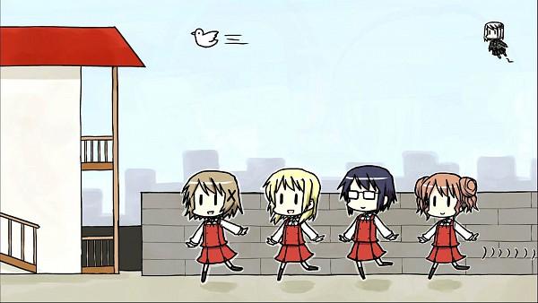 Tags: Anime, Daioki, Hidamari Sketch, Yuno (Hidamari Sketch), Sae (Hidamari Sketch), Hiro (Hidamari Sketch), Miyako (Hidamari Sketch), HD Wallpaper, Wallpaper