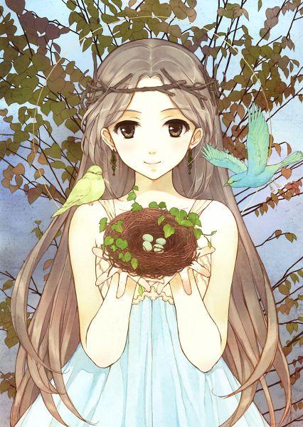 Tags: Anime, Hidari, Eshi 100-nin Ten 05, Nest, Mobile Wallpaper, Scan, Original
