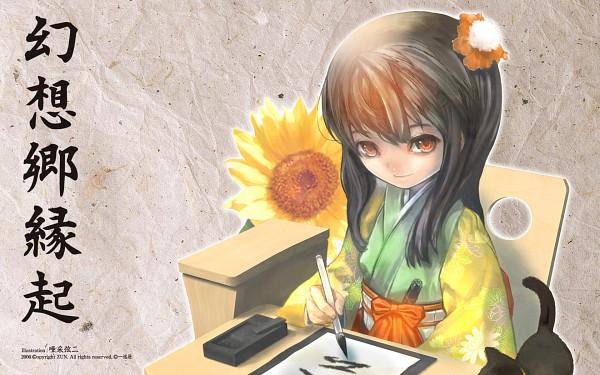 Tags: Anime, Asai Genji, ZUN, Perfect Memento in Strict Sense, Touhou, Hieda no Akyuu, 1680x1050 Wallpaper, Official Art, Wallpaper, Official Wallpaper