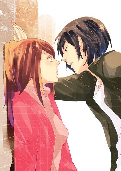 Tags: Anime, ifa, Higashi no Eden, Morimi Saki, Takizawa Akira, Kabe-don, Mobile Wallpaper, Pixiv, Fanart, Eden Of The East