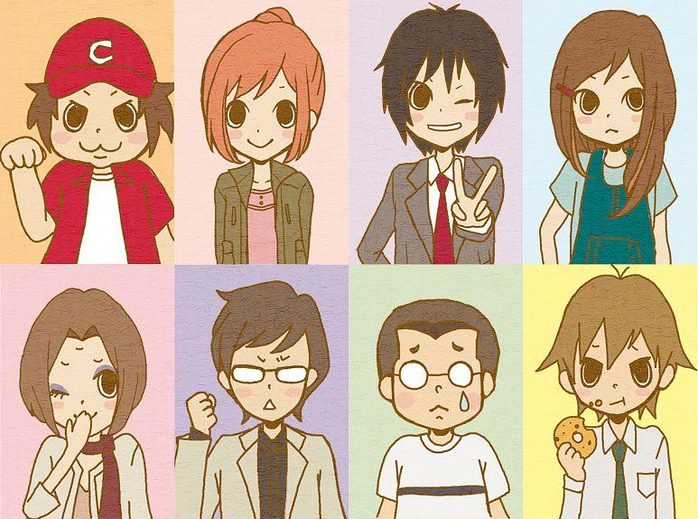 Tags: Anime, ayu (Pixiv 987835), Higashi no Eden, Kasuga Haruo, Morimi Saki, Itazu Yutaka, Takizawa Akira, Katsuhara Mikuru, O-nee, Ohsugi Satoshi, Hirasawa Kazuomi, Fanart, Pixiv, Eden Of The East