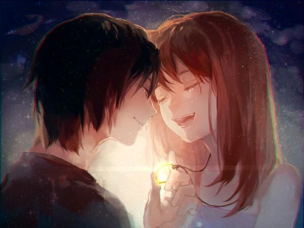 Tags: Anime, Pixiv Id 4767562, Higashi no Eden, Morimi Saki, Takizawa Akira, Fanart From Pixiv, Pixiv, PNG Conversion, Fanart, Eden Of The East