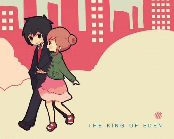 Tags: Anime, Hiyokona, Higashi no Eden, Morimi Saki, Takizawa Akira, Fanart, Pixiv, Wallpaper, Eden Of The East
