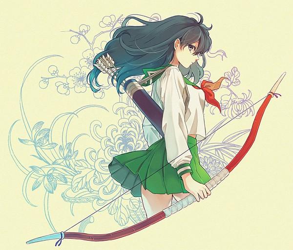Tags: Anime, Pixiv Id 13900974, InuYasha, Higurashi Kagome, Quiver