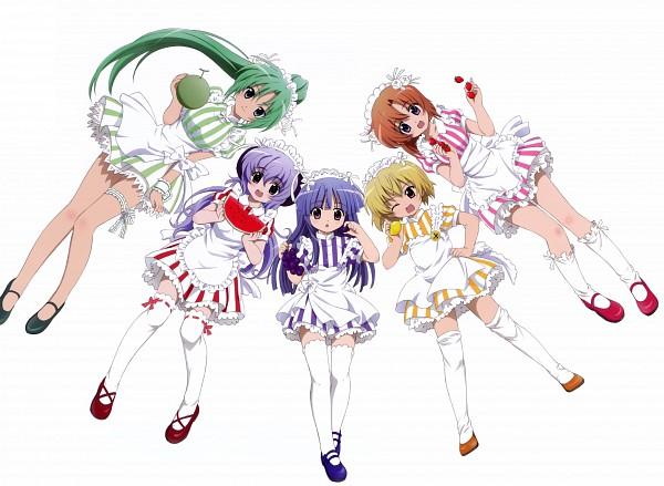 Tags: Anime, Sakai Kyuuta, Studio DEEN, Higurashi no Naku Koro ni, Higurashi no Naku Koro ni Kai, Sonozaki Mion, Furude Hanyuu, Ryuuguu Rena, Furude Rika, Houjou Satoko, Official Art, When They Cry