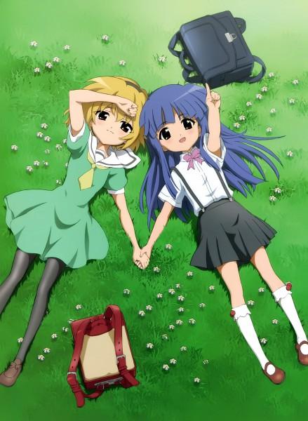 Tags: Anime, Sakai Kyuuta, 07th Expansion, Higurashi no Naku Koro ni, Houjou Satoko, Furude Rika, Official Art, When They Cry