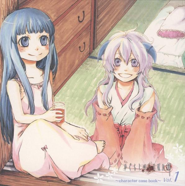 Tags: Anime, 07th Expansion, Higurashi no Naku Koro ni Kai, Higurashi no Naku Koro ni, Furude Rika, Furude Hanyuu, Artist Request, CD (Source), When They Cry