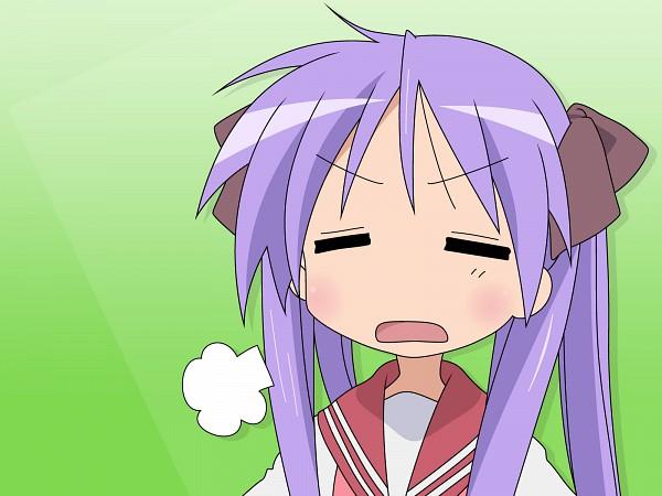 Tags: Anime, Lucky☆Star, Hiiragi Kagami, Sigh, Vector, Kagami Hiiragi