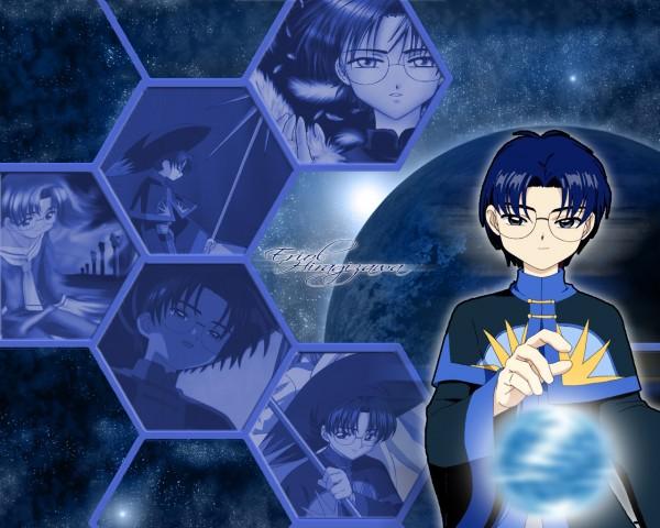 Tags: Anime, Cardcaptor Sakura, Hiiragizawa Eriol, Honeycomb Pattern, Wallpaper