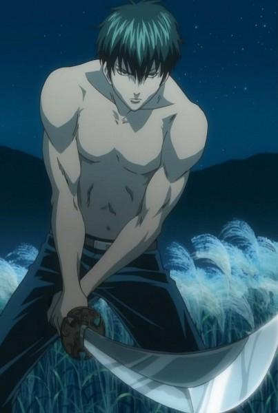Tags: Anime, Sunrise (Studio), Gintama, Hijikata Toushirou, Screenshot, Mobile Wallpaper, Stitched Screenshot