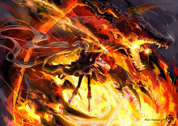 Tags: Anime, Rella, Hika (Pixiv Fantasia V), Summoner, Pixiv Fantasia Ⅴ, Pixiv, Pixiv Fantasia Series