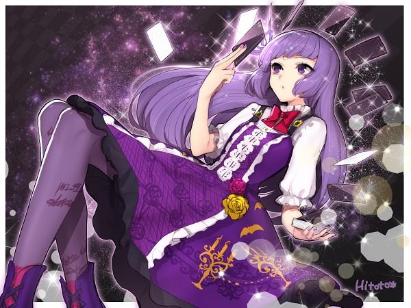 Tags: Anime, Hitoto, Aikatsu!, Hikami Sumire, Purple Legwear, Wallpaper, Fanart From Pixiv, Fanart, PNG Conversion, Pixiv