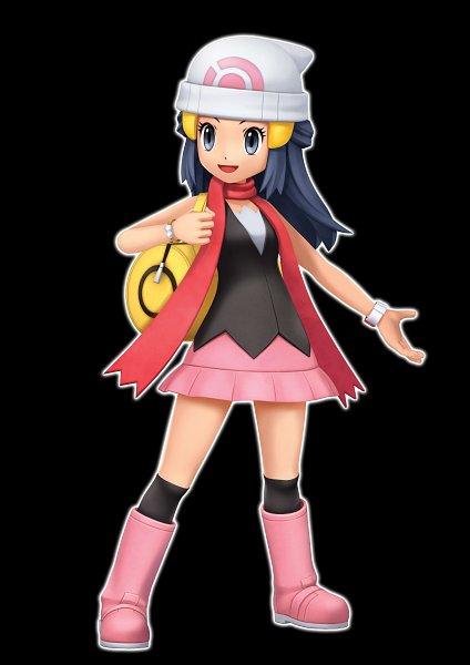 Tags: Anime, Pokémon Diamond & Pearl, Pokémon, Hikari (Pokémon), Official Art