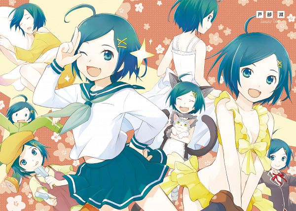 Tags: Anime, Tobe Sunaho, Yahari Ore no Seishun Love Come wa Machigatteiru, Hikigaya Komachi, Novel Illustration, Official Art