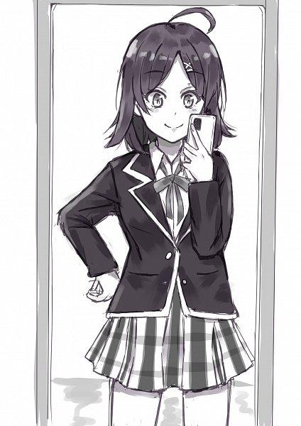 Tags: Anime, Pixiv Id 8488083, Yahari Ore no Seishun Love Come wa Machigatteiru, Yahari Ore no Seishun Love Come wa Machigatteiru Kan, Hikigaya Komachi, Holding Phone, Pixiv