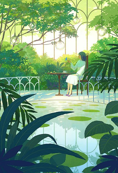 Tags: Anime, Hiko (Scape), Lily Pads, Pixiv, Original, Mobile Wallpaper