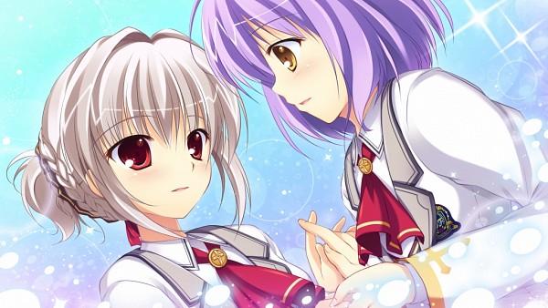 Tags: Anime, Mikeou, Escu:de, Himegoto Masquerade, Shirahane Itsuki, Mitsurugi Maya, CG Art, Wallpaper