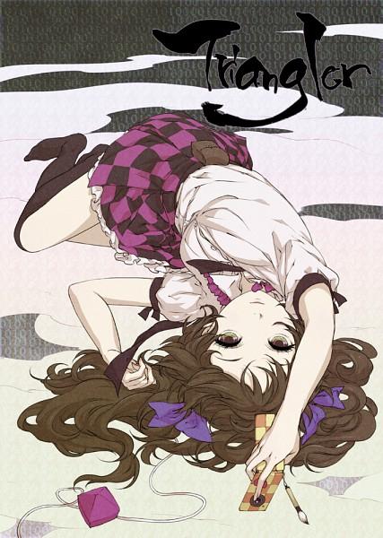 Tags: Anime, Egawa Satsuki, Triangler, Touhou, Himekaidou Hatate, Mobile Wallpaper, Hatate Himekaidou