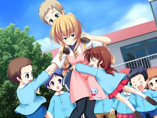 Tags: Anime, Ohba Kagerou, Sora wo Tobu 3tsu no Houhou, Himenoouji Karen, Kindergarten, Playing, Kindergarten Teacher, Character Request