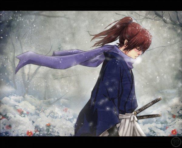 Tags: Anime, Tsuchan, Rurouni Kenshin, Rurouni Kenshin: Tsuioku-hen, Himura Kenshin, Fanart, deviantART, Pixiv, Fanart From Pixiv
