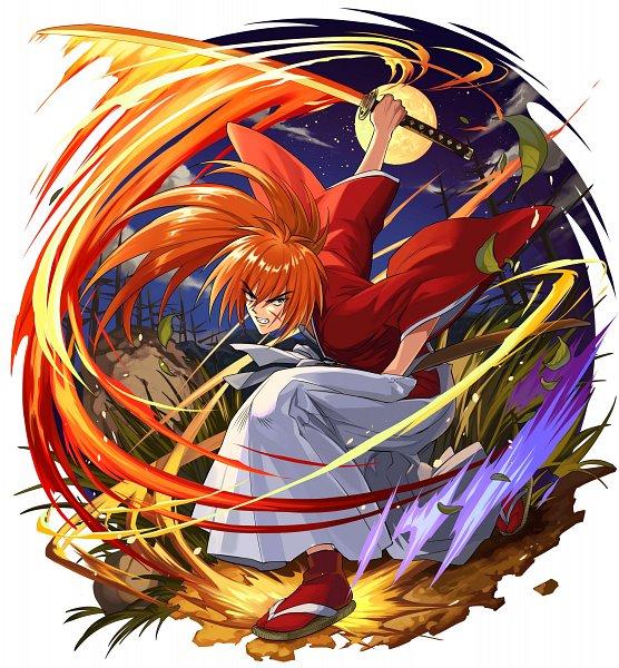 Tags: Anime, studioking, Rurouni Kenshin, Boku & Dragons, Himura Kenshin, Wooden Sandals, Official Art
