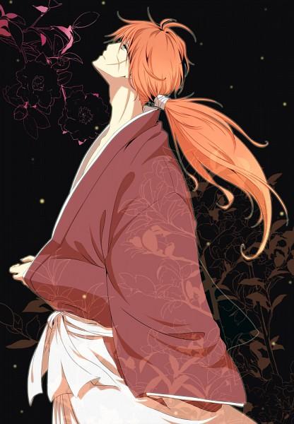 Tags: Anime, Eri (Pixiv Id 777371), Rurouni Kenshin, Himura Kenshin, Loose Kimono, Mobile Wallpaper