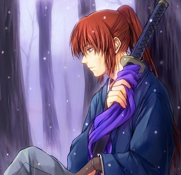 Tags: Anime, Hibiki Bagawa, Rurouni Kenshin, Rurouni Kenshin: Tsuioku-hen, Himura Kenshin, Lonely, Fanart, Pixiv