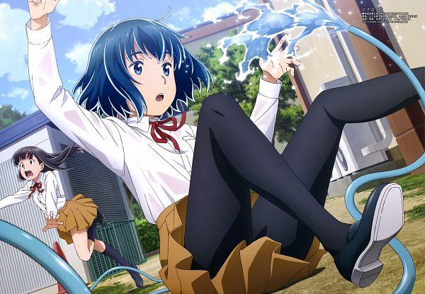Tags: Anime, Tsujikami Ayaka, Feel (Studio), Hinamatsuri (Series), Mishima Hitomi, Nitta Hina, Official Art, Scan