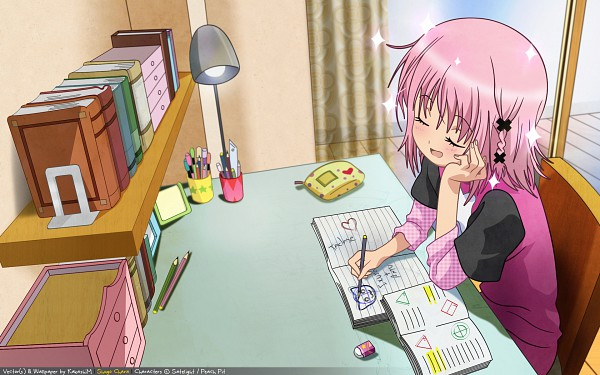 Tags: Anime, Shugo Chara!, Hinamori Amu, Drawing (Action), Wallpaper