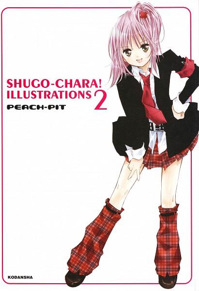 Tags: Anime, PEACH-PIT, Shugo Chara!, Shugo Chara! Illustrations 2, Hinamori Amu, Official Art, Scan