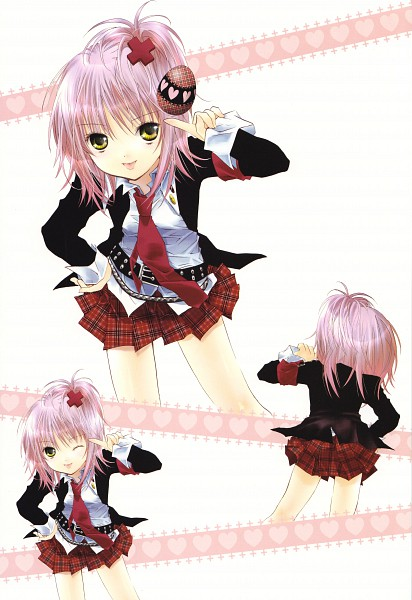 Tags: Anime, PEACH-PIT, Shugo Chara!, Shugo Chara! Illustrations 2, Hinamori Amu, Scan, Mobile Wallpaper, Official Art