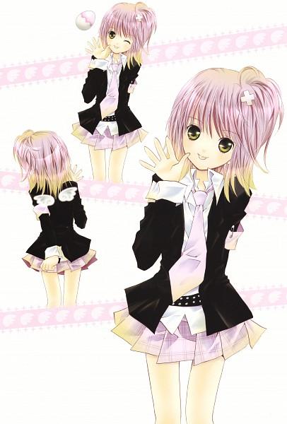 Tags: Anime, PEACH-PIT, Shugo Chara!, Shugo Chara! Illustrations 2, Hinamori Amu, Official Art, Scan, Mobile Wallpaper