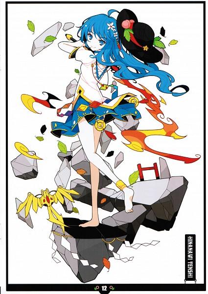 Tags: Anime, Ideolo, NEKO WORKi, BLACK❤ALBUM 3, Touhou, Hinanawi Tenshi, Keystone, Sword of Hisou, Mobile Wallpaper, Comic Market 82, Scan, Tenshi Hinanawi