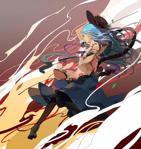 Tags: Anime, Sakura Sora, Touhou, Hinanawi Tenshi, Fanart, PNG Conversion, Tenshi Hinanawi