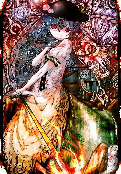Tags: Anime, Koohee, Touhou, Hinanawi Tenshi, Keystone, Sword of Hisou, Tenshi Hinanawi
