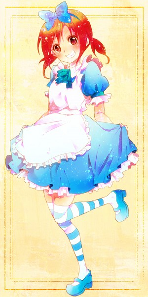 Tags: Anime, Pixiv Id 1781504, Smile Precure!, Hino Akane, Alice (Alice in Wonderland) (Cosplay), Fanart From Pixiv, Pixiv, Fanart