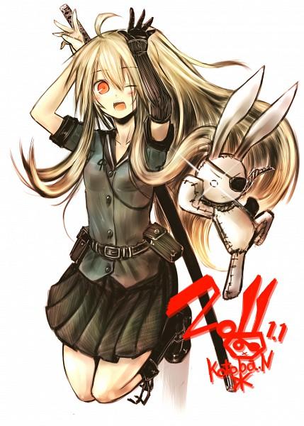 Tags: Anime, Kotoba Noriaki, Hinomaru (Kotoba), Bunny Ear Gesture, Happy 2011, Pixiv, Mobile Wallpaper, Original