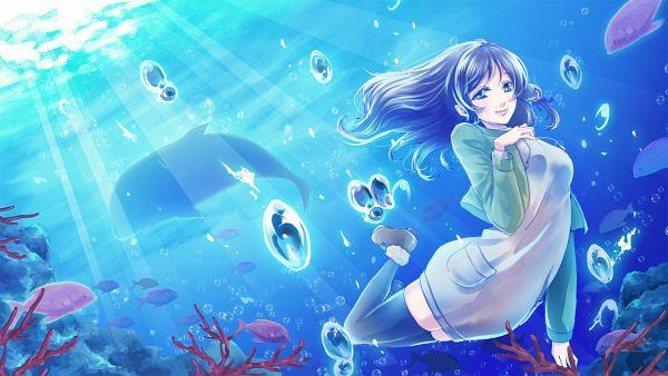 Tags: Anime, Pixiv Id 41502, Nagi no Asukara, Hiradaira Chisaki, Wallpaper, HD Wallpaper