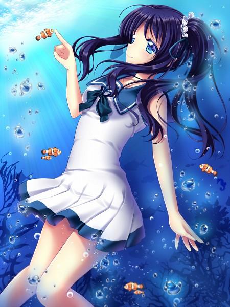 Tags: Anime, Shirato Sayuri, Nagi no Asukara, Hiradaira Chisaki, Fanart, Fanart From Pixiv, Mobile Wallpaper, Pixiv