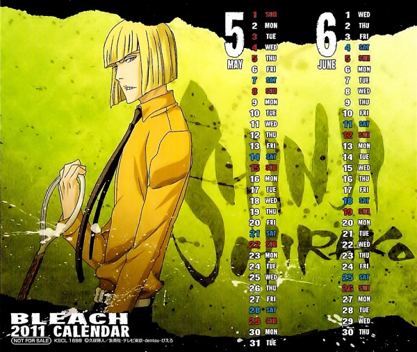 Tags: Anime, BLEACH Calendar 2011, BLEACH, Hirako Shinji, Calendar (Source), Official Art, Calendar 2011, Vizard