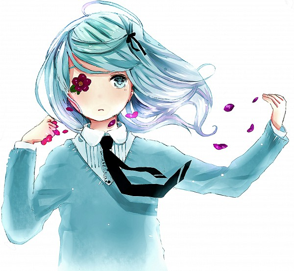 Tags: Anime, Wakuraba, VOCALOID, Hatsune Miku, Eye Flower, Hirari Hirari, Pixiv